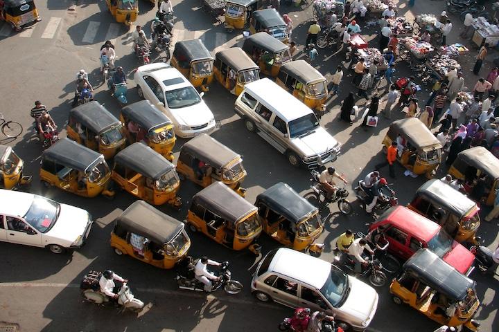 embouteillage Inde