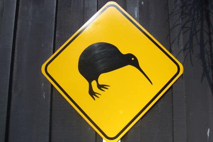 panneau kiwi - Nouvelle-zélande
