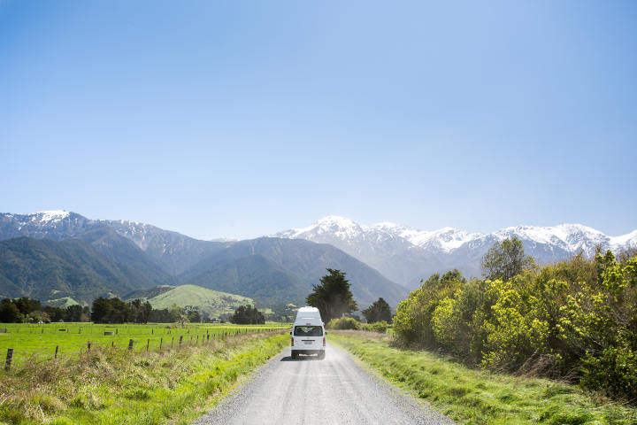 unsealed road- route non goudronnée - nouvelle-zelande
