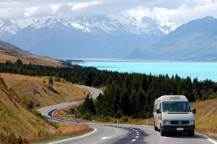 Trajet - camping -car - Nouvelle-Zélande