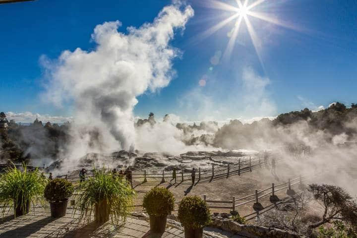 pohutu geyser- rotorua- nouvelle zelande-