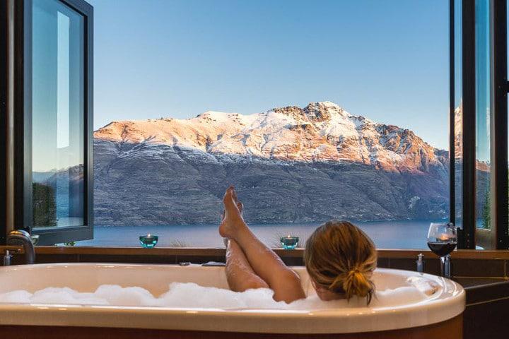Azur Luxury lodge - Vue baignoire - hébergements d'exceptions en Nouvelle-Zélande